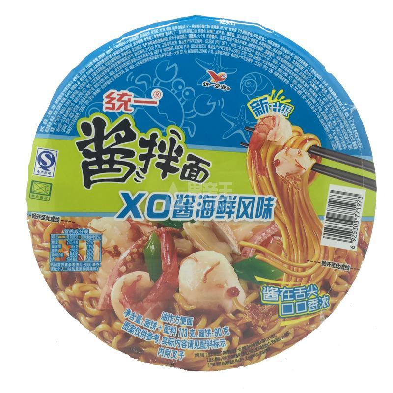 统一xo海鲜酱拌面113g/碗